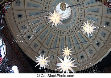 star light in dome ceiling - dome ceiling with hanging stars...