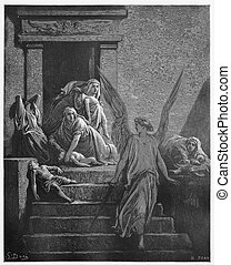 The firstborn of Egypt are slain in the final plague -...