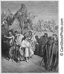 Joseph is sold Into slavery by his brothers - Picture from...