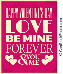Valentines Day Card - Vintage style design for Valentines...