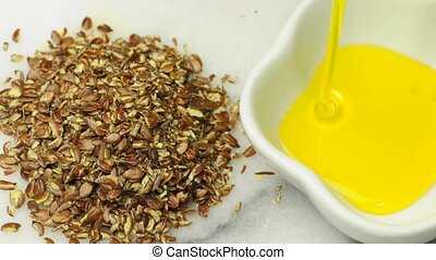 Flax-seed oil and flay-seeds