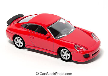 Toy Car - Red Toy Car with white background