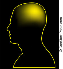 Glowing Brain - Abstract image - Glowing Head - Intelligence...
