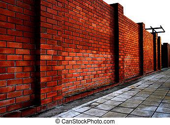 Brick walls and floor