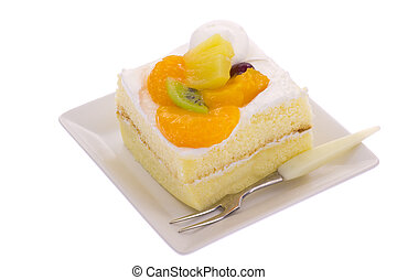 fruit shortcake - This is a photograph of a fruit shortcake.
