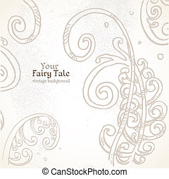 Your Fairy tale vintage background
