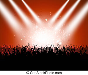 Clubbing - colorful music background of dancing people for...
