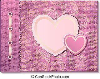 Photo album with hearts
