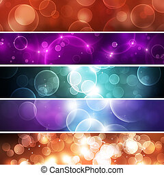 Abstract Bokeh Banners