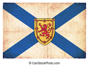 Grunge flag of Nova Scotia (Canadian province) - Flag of...