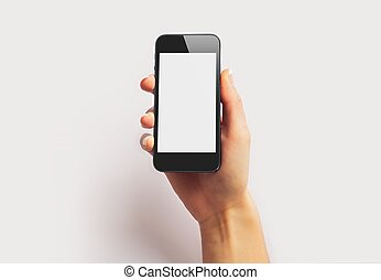 Smartphone with Empty Screen