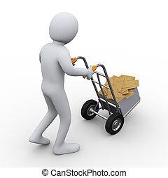 3d man mail envelop delivery