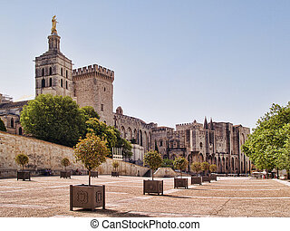Popes Palace in Avignon, France - Splendid gothic Popes...