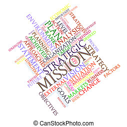 Wordcloud mission - Illustration of wordcloud word tags of...