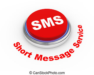3d sms button