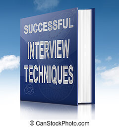 Interview techniques concept. - Illustration depicting a...