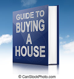 House buying concept. - Illustration depicting a book with a...