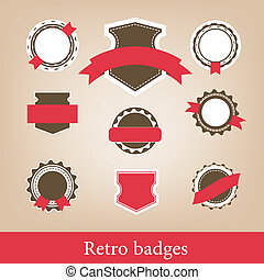 Retro badges. Vector - Retro badges collection