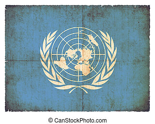 Grunge flag of United Nations
