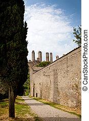 san gimignano - view at towers san gimignano