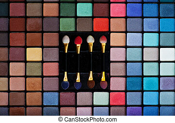Make-up set - Professional set of various colored eye...