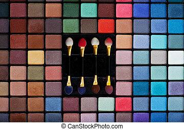 Make-up set - Professional set of various colored eye...