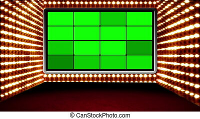 Studio with Stylized GS Design 03 - Green screen box design...