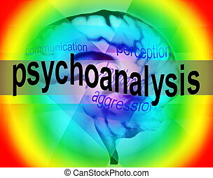 concept of psychoanalysis background, texture