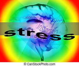 concept of stress  background, texture