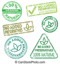 No Added Preservatives Stamps - No added preservatives...
