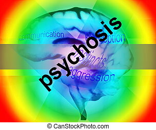 concept of psychosis background, texture