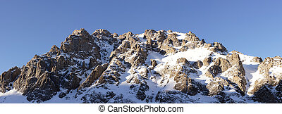 Beautiful winter view of the mountains