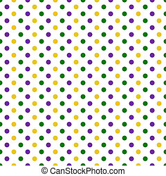 Seamless Polka Dot Pattern - Polka dots in green, purple,...