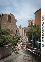Earthquake, Emilia, Romagna, disaster, destruction, damage