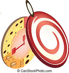 Pocket Candy Watch Graphic vector
