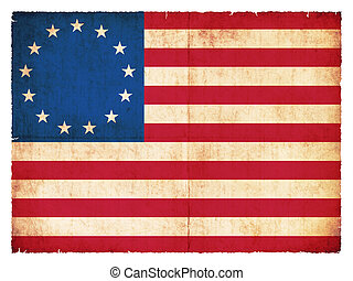 Historic Grunge flag of the USA - Historic national Flag of...