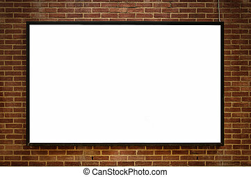 one blank board 02 - One blank billboard attached to a...