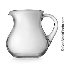 Glass pitcher isolated on a white background