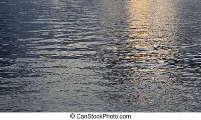 Sunset water ripples background - Nature background with...