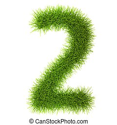 Grass style Numbers