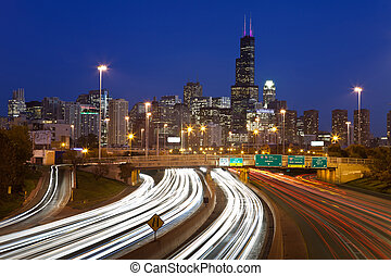 Chicago traffic.