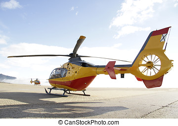 Emergency Helicopter - Helicopter rescue ready for...