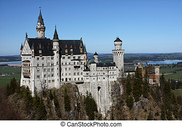 palace Neuschwanstein, Bavaria, Germany - exterior of...
