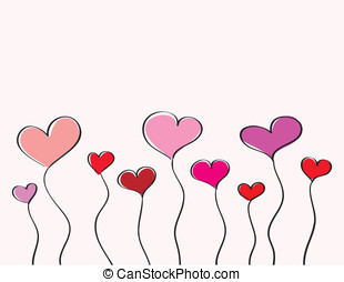 Hand-drawn hearts - Hand-drawn love hearts