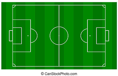 Football Pitch - Overhead View - An overhead view of a...