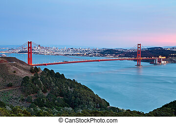 San Francisco. - Image of Golden Gate Bridge with San...