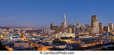 San Francisco. - Image of San Francisco skyline with Bay...