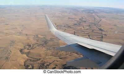 Passenger Jet 3 - Passenger jet in flight banks to the right...