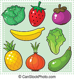 Fruits & Vegetables 03 - Image of nature products, fruits...