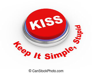 3d KISS button